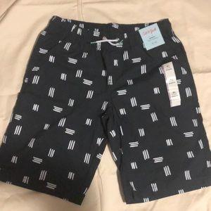 16 NWT Cat /& Jack Boys XL Drawstring Light Gray Pull-On Shorts